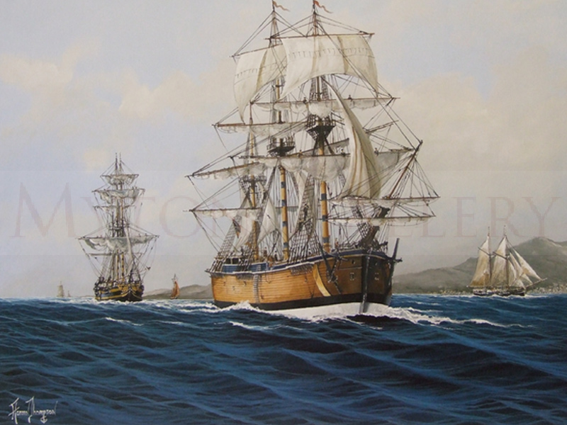 HMS Bark Endeavour and Grand Turk picture by adrian thompson