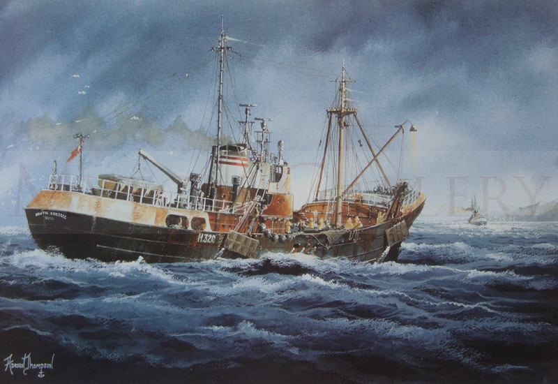 Hull Trawler Arctic Corsair at Sea by artist Adrian Thompson