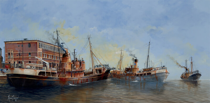 Lost But Never Forgotten, triple trawler tragedy print by artist Adrian Thompson