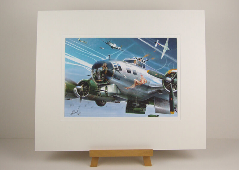 Flying Fortress B17 bomber picture by Gary Saunt mounted for sale