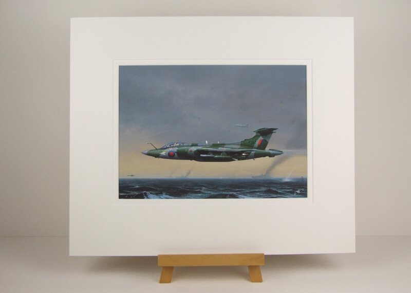 Blackburn Buccanner fighter plane picture by Gary Saunt mounted for sale