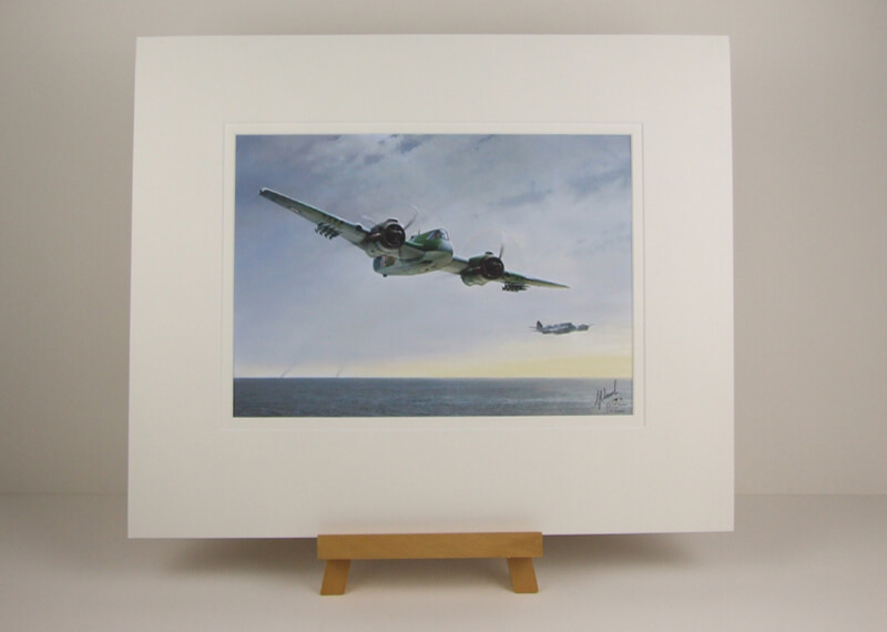 Bristol Beaufighter aviation picture by Gary Saunt mounted for sale