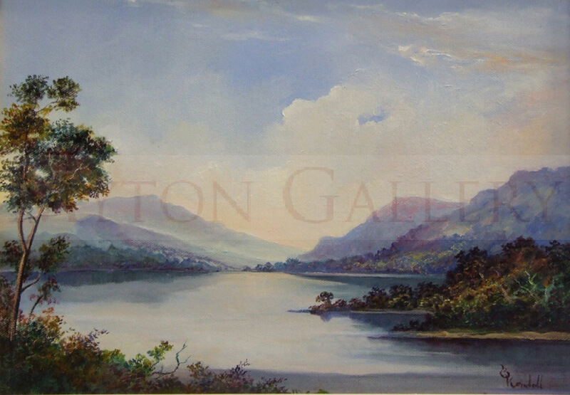 Buttermere Landscape painting by Bruce Kendall