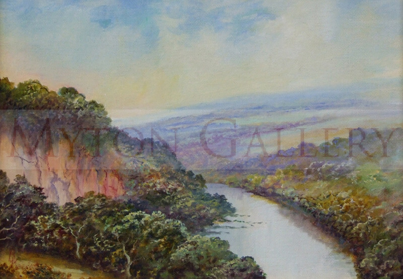 Samson Chamber Landscape painting by artist Bruce Kendall
