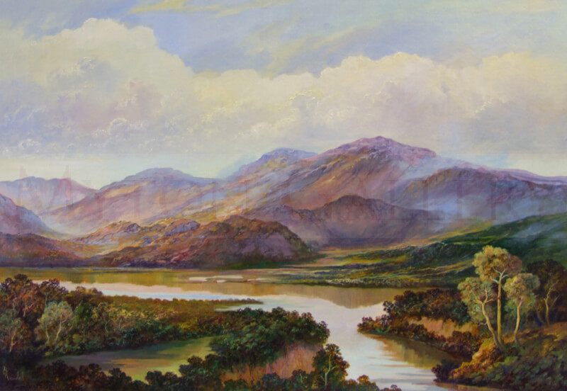 Bruce Kendall River Landscape painting