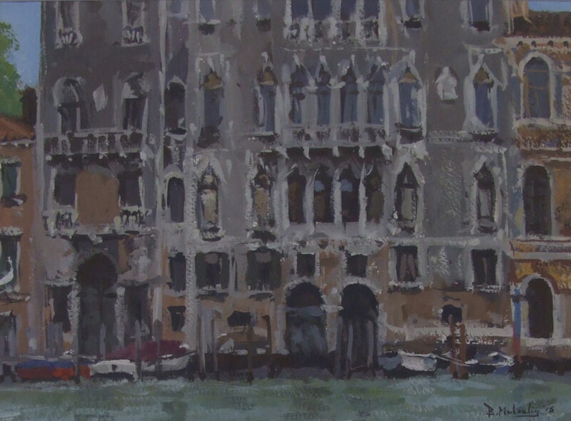 The Grand Canal Venice by artist Bruce Mulcahy at Myton Gallery Hull