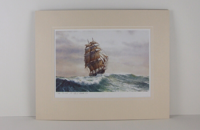 Tall ship Carrick picture mounted for sale
