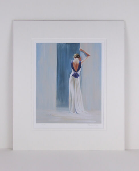 Classic Deco picture by artist Paul Milner mounted for sale