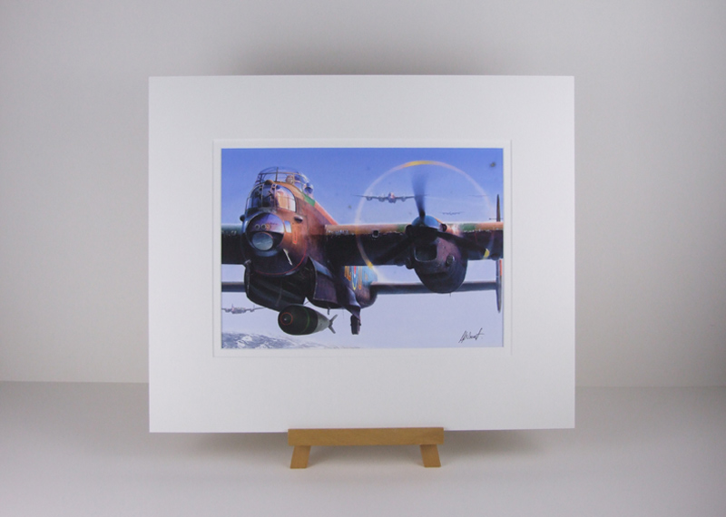 Lancaster Bomber Dambusters Tirpitz Raid plane picture by artist Gary Saunt