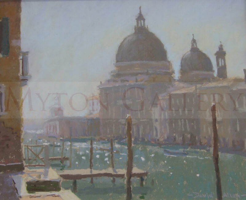 david allen the salute morning light, venice original painting