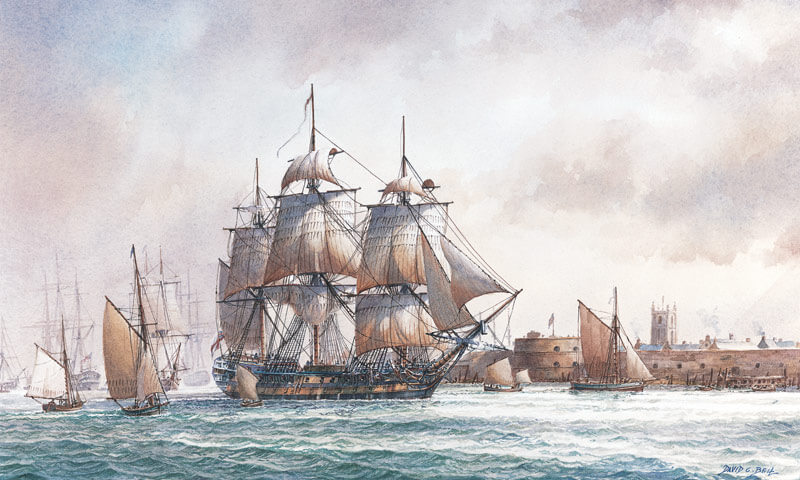 Tall ship Agamemnon fine art print by David Bell at Myton Gallery Hull