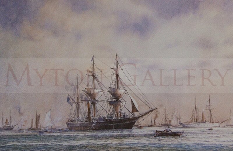 david bell tall ship discovery off cowes