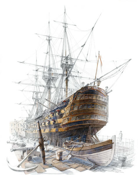 HMS Victory historic ship by David Bell