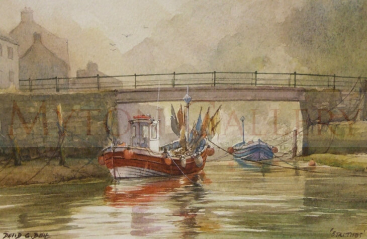 Painting of Fishing boats at Staithes