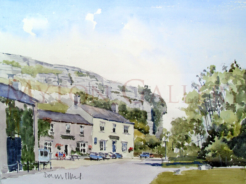 Kilnsey Crag painting by artist David Work