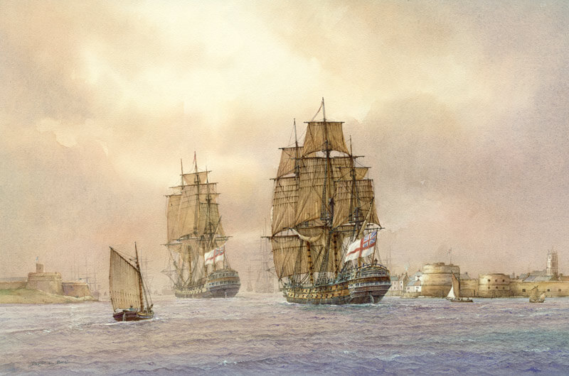 Tall ship Agamemnon fine art print by David Bell