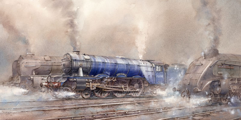 Diamond Jubilee steam locomotive fine art print by artist David Bell