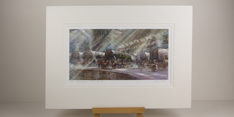 Flying Scotsman train picture by artist David Bell