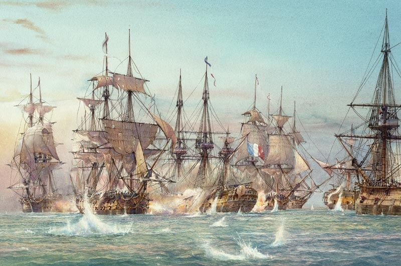 Battle of the Nile fine art print by David Bell