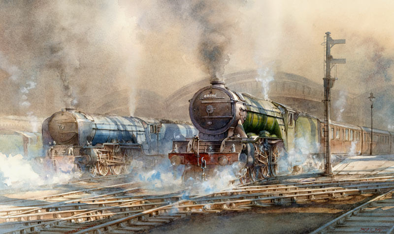 papyrus steam locomotive at york railway station picture by david bell