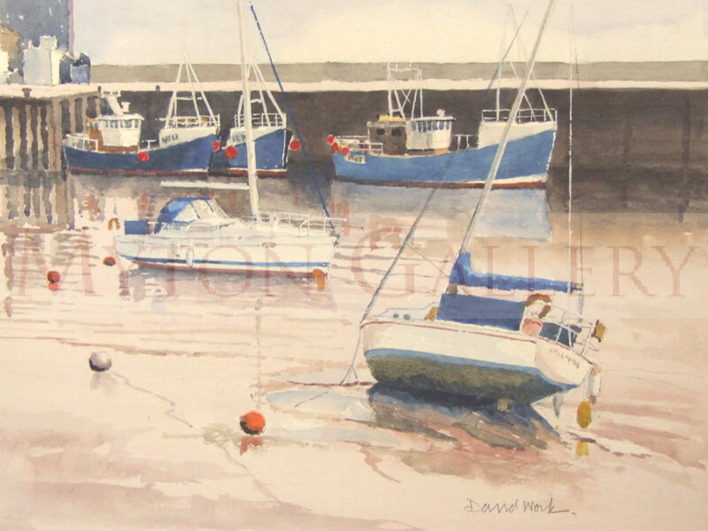 Bridlington Harbour watercolour painting by artist David Work