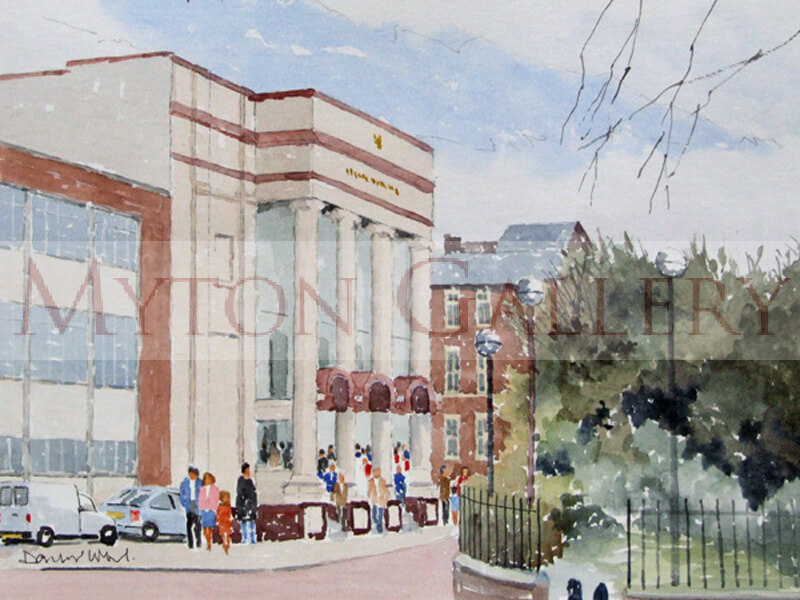New Theatre, Hull painting by artist David Work