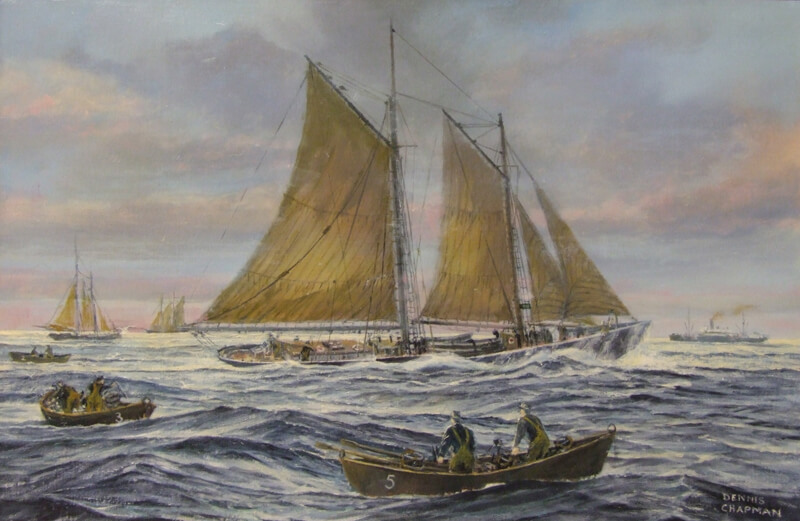 dennis_chapman_grand_banks_schooner_and_dorymen_dc132op_800