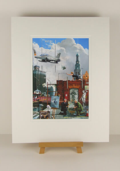 Bankside, Wincolmlee, Hull picture by artist Gary Saunt mounted for sale at myton gallery