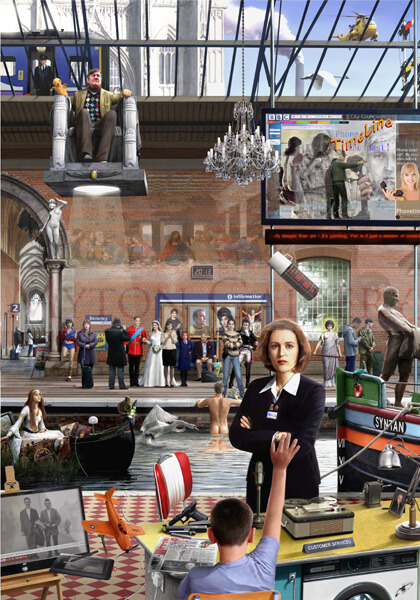 Beverley Train Station picture by artist Gary Saunt