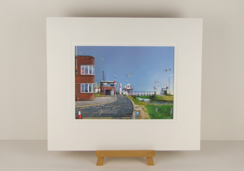 Miracle on the River Hull picture by artist Gary Saunt mounted for sale at myton gallery hull