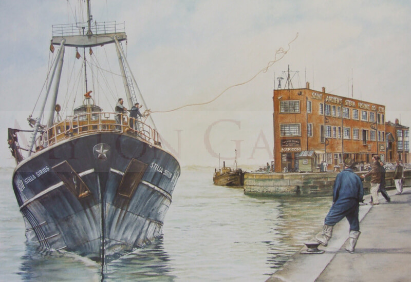 Hull Trawler Stella Sirius picture by artist Geoff Woolston