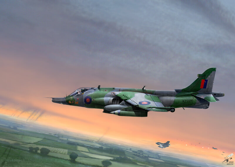 Harrier Jet aviaition print by Gary Saunt
