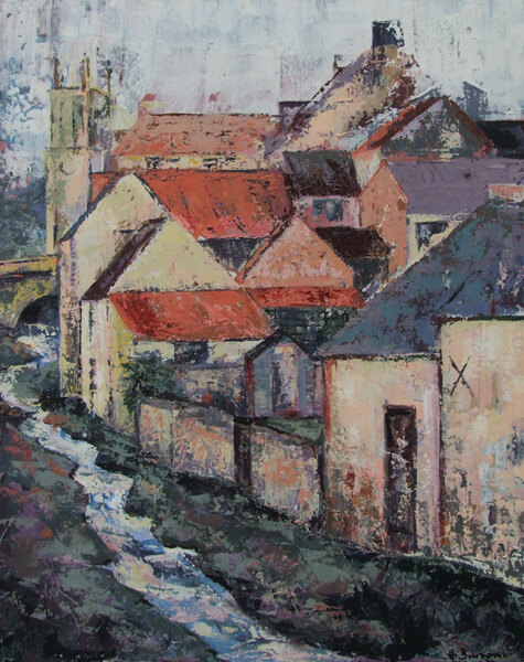 heather burton helmsley rooftops painting at myton gallery hull
