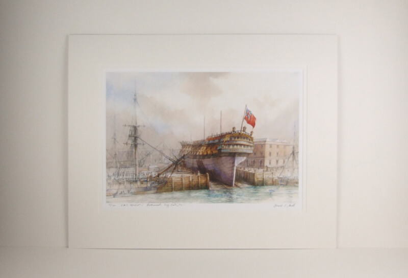 HMS Warrior Portsmouth Naval Dockyard picture by David Bell mounted for sale