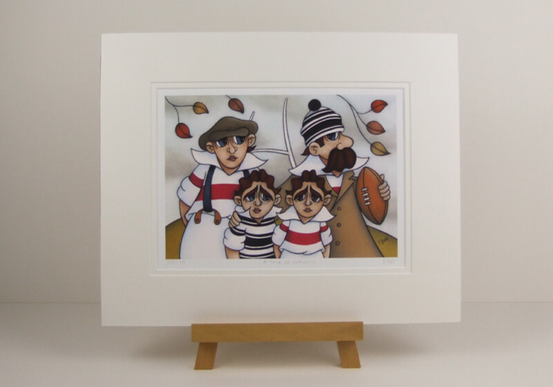 Hull FC and HKR rugby league picture by peter bell mounted for sale