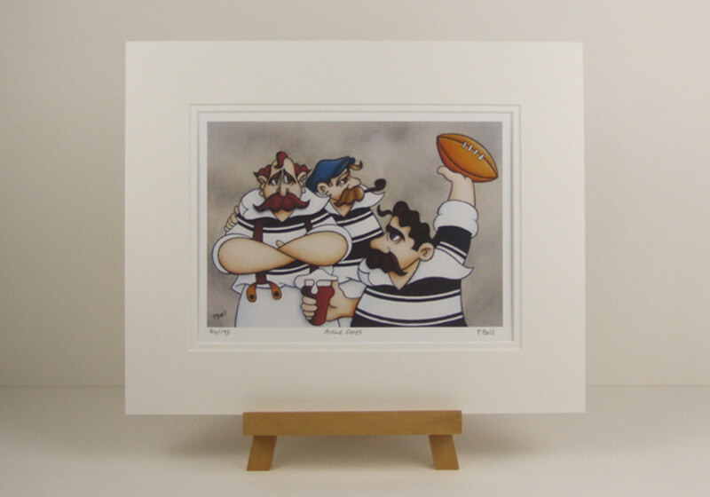 Hull FC rugby league picture by peter bell mounted for sale
