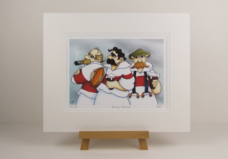 Hull Kingston Rovers rugby league picture Rovers Return cartoon fine art print