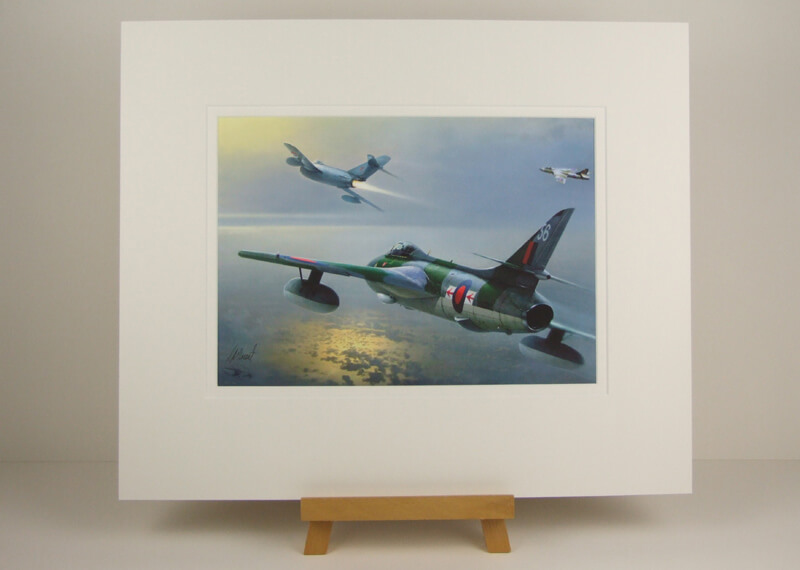 Hunter plane print by Gary Saunt mounted for sale
