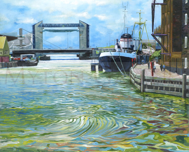 River Hull and Arctic Corsair Trawler picture by artist John Brine