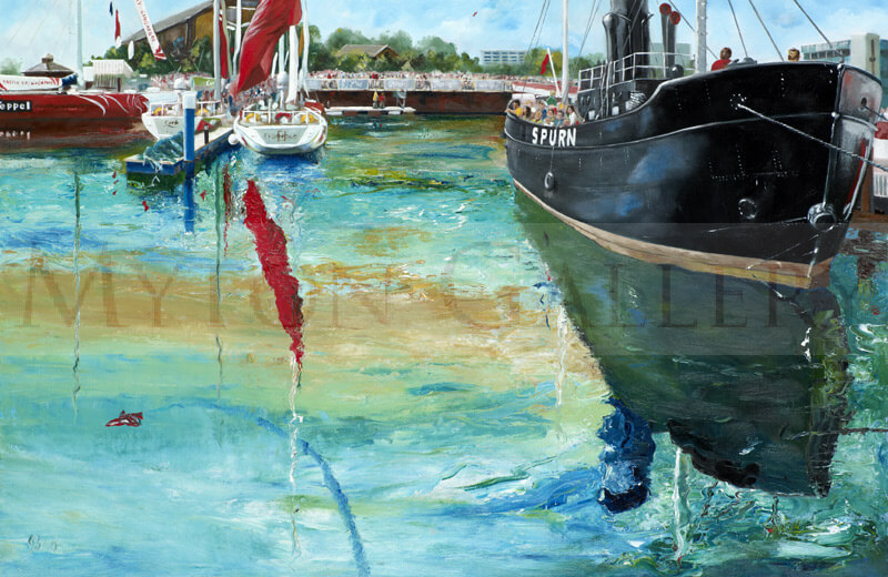 Hull Marina Race Day picture by artist John Brine