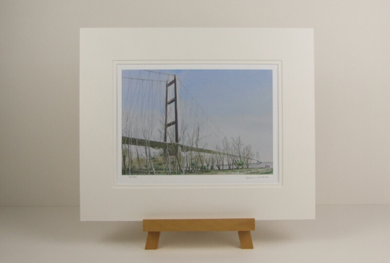 Humber Bridge North Tower picture by John Gledhill mounted for sale