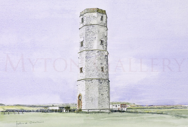 Old Flamborough Lighthouse picture by artist John Gledhill