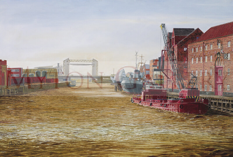 River Hull and Arctic Corsair Trawler picture by artist John Gledhill