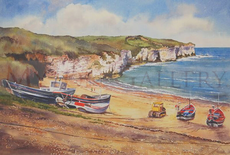 North Landing, Flamborough picture by artist John Wood