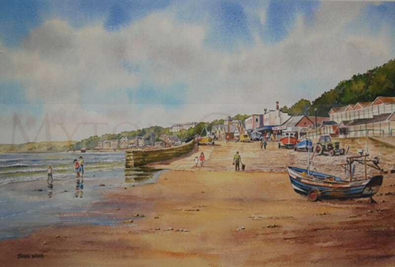 The Cobble Landing, Filey picture by artist John Wood