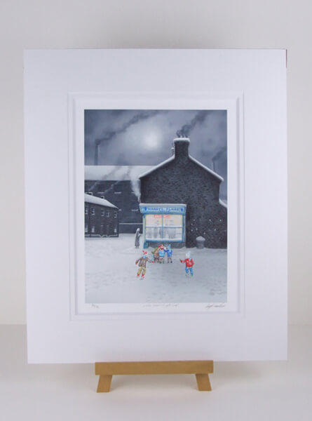 leigh lambert little charlie's got chips mounted picture at myton gallery hull