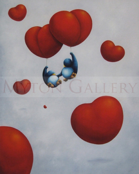 lets float awayjames buttifant penguins and hearts picture