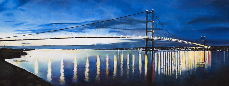 Humber Bridge Reflections by Martin Jones