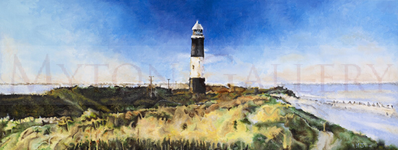artist Martin Jones picture Spurn Point Lighthouse, East Yorkshire