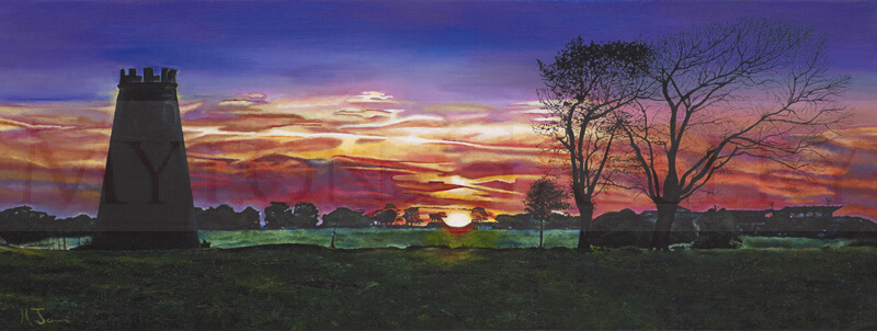 Original painting of Beverley Westwood and Racecourse by artist Martin Jones